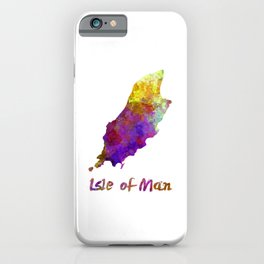 isle of man watercolor map iPhone Case