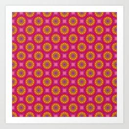 Yellow Circles Art Print