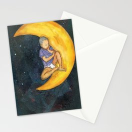 Son and the Moon Stationery Cards