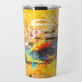 Street Art Bird Travel Mug