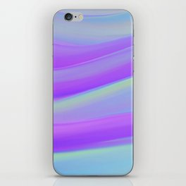 cold blue and violate colorful wavy abstract mixer brush iPhone Skin