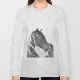 Stallion in black and white Long Sleeve T-shirt