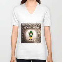 percy jackson V-neck T-shirts featuring Percy - Snow Angel by Rich Mitch Pics