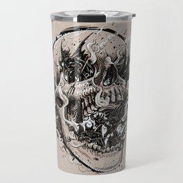 skull with demons struggling to escape Travel Mug