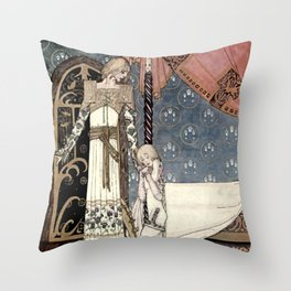 """Show Me the Way"" Kay Nielsen Fairytale Illustration Throw Pillow"