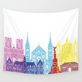 Reims skyline pop Wall Tapestry