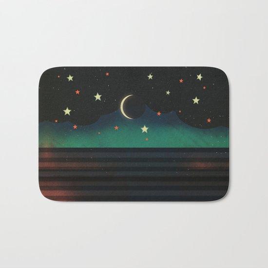Abstract Moonscape Bath Mat
