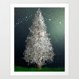 No Mess Christmas Tree Art Print
