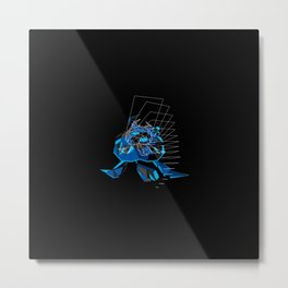 Geometric Turtle Metal Print