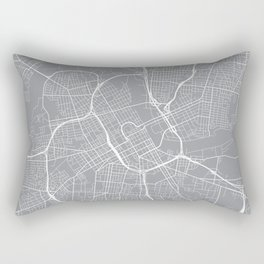 Nashville Map, Tennessee USA - Pewter Rectangular Pillow