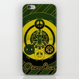 One Love (Green) iPhone Skin