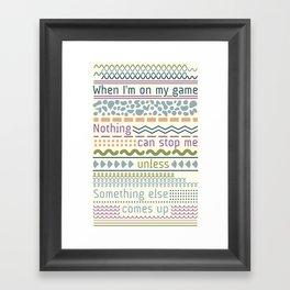 Sticktoittiveness Framed Art Print