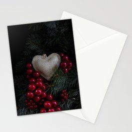 Heart in Christmas. Stationery Cards