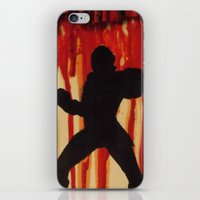 power ranger iPhone & iPod Skins featuring Red Power Ranger by Oksana's Art