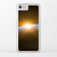 Space View Sunrise Clear iPhone Case