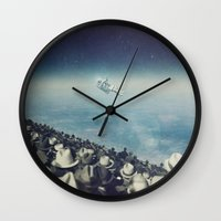 astronaut Wall Clocks featuring Astronaut by MiraRuido