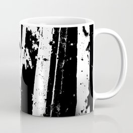 Black and White Birch Trees Fade Out Coffee Mug