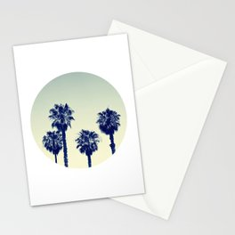 retro palm trees Stationery Cards