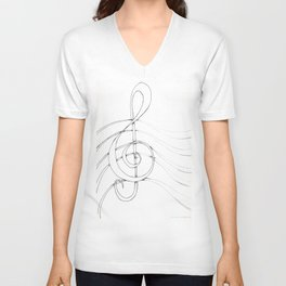 Clef Point Unisex V-Neck