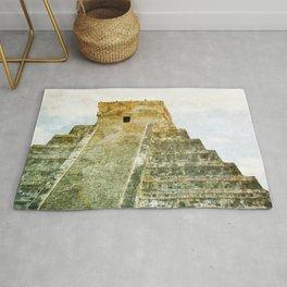 Chichen Itza pyramid Rug