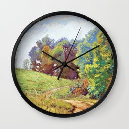 Indiana Landscape - Theodore Clement Steele Wall Clock