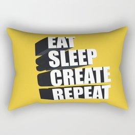 3d Typography Rectangular Pillow