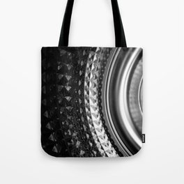Shimmering textures of laundry machine drum -- Everyday art Tote Bag