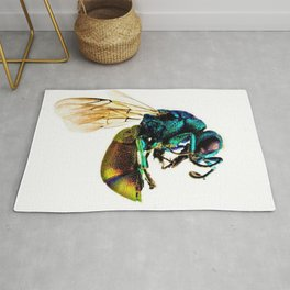 Multi-colored Cuckoo Wasp Portrait #2 Rug