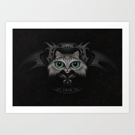 Isis the cat Art Print