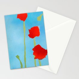 Poppies tall Stationery Cards