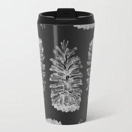 Grey Pine Pattern Travel Mug