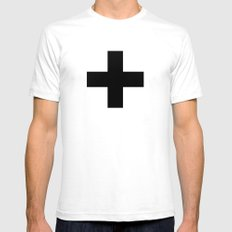 plus SMALL White Mens Fitted Tee