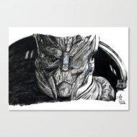 garrus Canvas Prints featuring Garrus by tattooeddragonfly