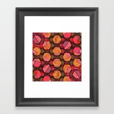 Hexed Framed Art Print