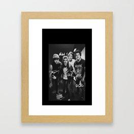 Pierce The Veil - Vic Fuentes, Mike Fuentes, Tony Perry & Jaime Preciado Framed Art Print