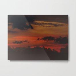 A Sky On Fire - 2 Metal Print