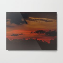 A Sky On Fire - 2 Metal Print