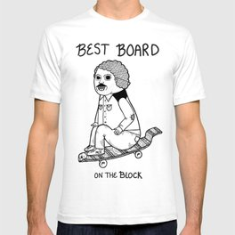 Hands down, he had the best board on the block.  T-shirt
