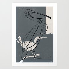 To Be a Pelican Art Print