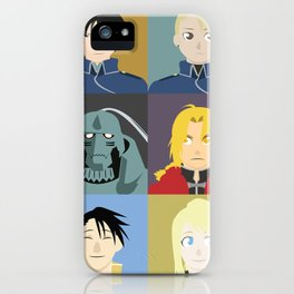 FMA Character Print iPhone Case