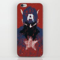 captain iPhone & iPod Skins featuring The Captain by Purple Cactus