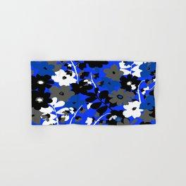 SUNFLOWER TRELLIS BLUE BLACK GRAY AND WHITE TOILE Hand & Bath Towel