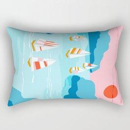 Tight - memphis throwback retro vintage classic sport boating yachting sailboat harbor sea ocean art Rectangular Pillow