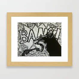 KittyKittyBangBANG! Framed Art Print