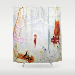 Dance Like Nobody Is Watching (Music to Dance By), A Portrait by Florine Stettheimer Shower Curtain