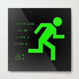 Hack RUN Logo Metal Print