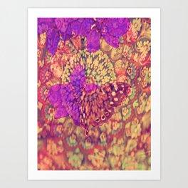 Little brouwn Butterfly Art Print