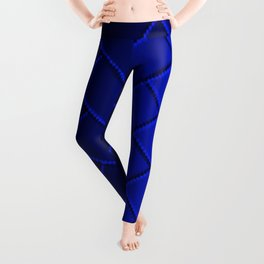 Herringbone Gradient Dark Blue Leggings