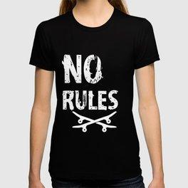 No Rules Skater - Skateboard, Halfpipe T-shirt