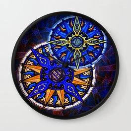 Abstract Moon & Sun Celtic Knots Wall Clock